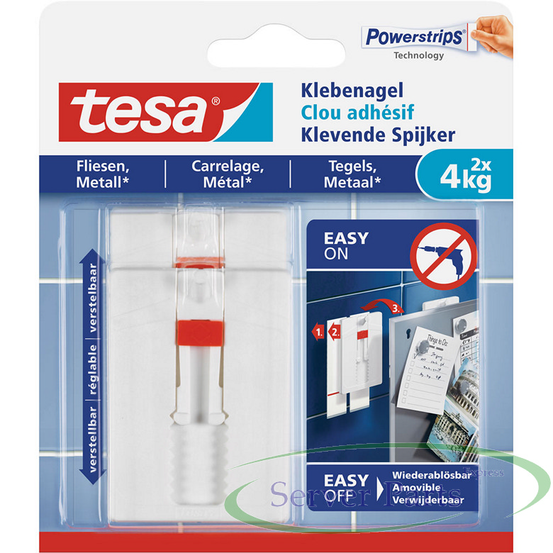 Tesa Adhesive Nail Pcs For Tiles And Metal Up To Kg Per Nail - Fliesen discount celle